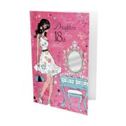 Daughter 18th Birthday Pink Card